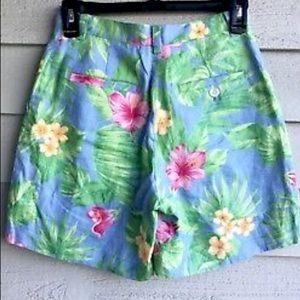Ralph Lauren Shorts - Ralph Lauren Tropical High Rise Linen Shorts